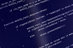 Código do programa Imagens de Stock Royalty Free
