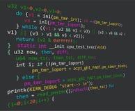 Código do programa durante o processo de desenvolvimento Imagem de Stock