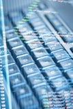 Código do programa e teclado de computador Fotos de Stock Royalty Free