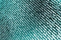 Código do programa - a opinião de ângulo reage HTML, conceito nativo no LCD Tela abstrata de tecnologias do vírus e da codificaçã imagens de stock