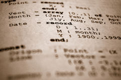 Código fonte foto de stock royalty free