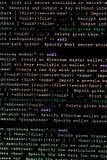 Código fonte de Ethereum, de cryptocurrency e do sistema descentralizado fotografia de stock