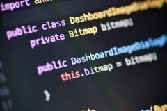 Código fonte de Java Android Foto de Stock