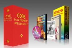 Código francés de la característica intelectual Foto de archivo