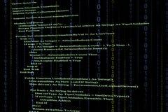 Código fuente Imagen de archivo libre de regalías