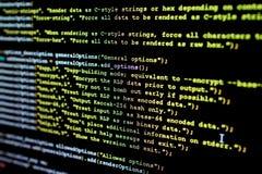 Código fuente de Ethereum, del cryptocurrency y del sistema descentralizado foto de archivo libre de regalías