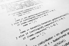 Código fuente de Java Imagenes de archivo