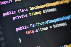 Código fuente de Java Android foto de archivo