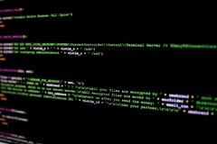 Código fuente de Ransomware Código fuente malévolo de la escritura que encryp foto de archivo