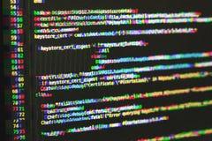 Código fuente del software sobre efecto digital de la interferencia foto de archivo