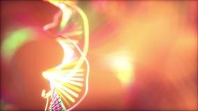 Código genético de la DNA colorido almacen de metraje de vídeo