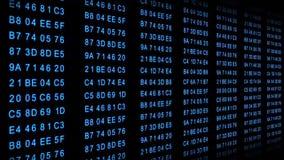 Código hexadecimal - flujo de datos - azul