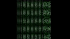 Código hexadecimal verde que funciona con para arriba una pantalla de ordenador metrajes