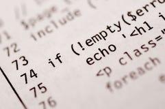 Código impreso del PHP fotos de archivo libres de regalías