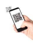 Código móvel de QR Imagens de Stock Royalty Free