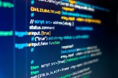 Código moderno de la programación informática imagenes de archivo