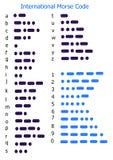 Código Morse Imagens de Stock