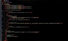 Código programado Fotografía de archivo libre de regalías