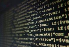 Código programado Imagen de archivo