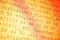 Código programado imagenes de archivo