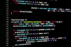 Código programado abstracto imagen de archivo libre de regalías