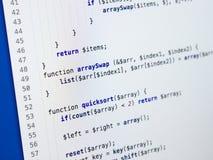 Código programado abstracto foto de archivo