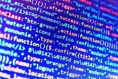 Código programado del desarrollador de Python fotos de archivo libres de regalías