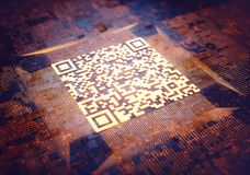 Código rápido da resposta Fotografia de Stock