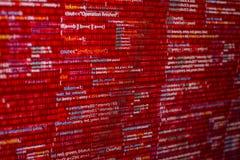 Código rojo foto de archivo