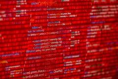 Código rojo foto de archivo libre de regalías