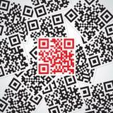 Código rojo del qr de la muestra Fotos de archivo libres de regalías
