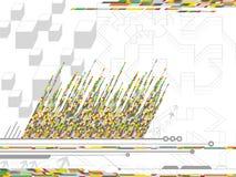 Códigos alaranjados amarelos de Digitas ilustração do vetor