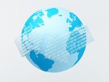 Códigos binarios alrededor del globo Imágenes de archivo libres de regalías
