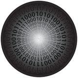 Códigos binarios en círculo stock de ilustración