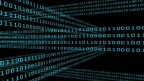 Códigos binarios y relámpago stock de ilustración