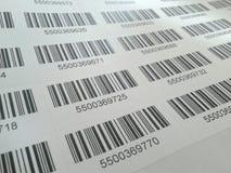 Códigos de barras Fotografía de archivo libre de regalías