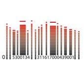 Códigos de barras com equalizador Imagens de Stock