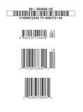 Códigos de barras falsos Imagen de archivo