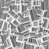 Códigos de barras rasgados (papel pintado inconsútil del vector) ilustración del vector