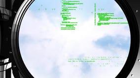 Códigos de Digitaces dentro de una cámara acorazada stock de ilustración