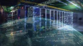 Códigos de la tecnología de la información con el globo giratorio libre illustration