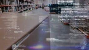Códigos de programa en un almacén metrajes