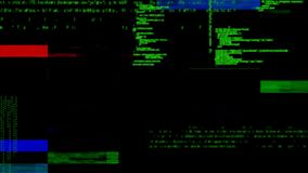 Códigos de programa y barras coloridas stock de ilustración