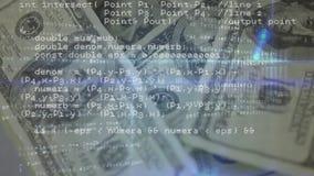 Códigos de programa y dinero metrajes