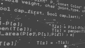 Códigos de programa y líneas asimétricas almacen de metraje de vídeo