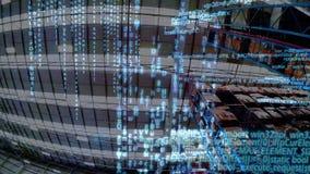 Códigos de programa y un almacén metrajes