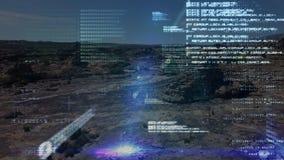 Códigos de programa y un campo estéril metrajes
