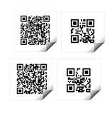 Códigos de QR Fotografia de Stock Royalty Free