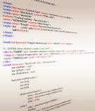 Códigos del HTML Fotos de archivo