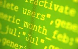 Códigos do HTML Fotografia de Stock Royalty Free